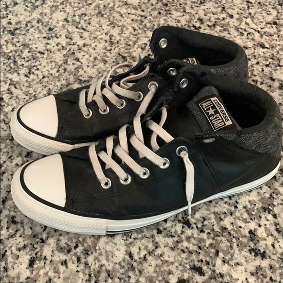 Converse Shoes   Leather High Tops Size